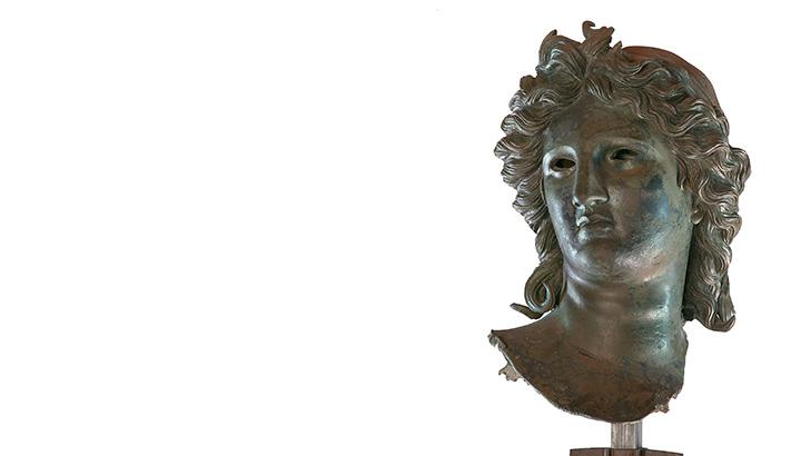 Greek Bronze Sculpture Rare View at National Gallery D.C.