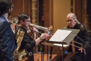 Boston NEC Jazz Orchestra conductor Ken Schaphorst Bob Brookmeyer