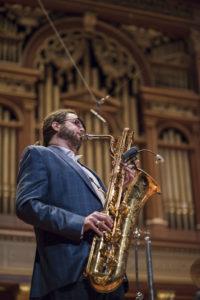 Boston NEC Jazz Orchestra Brian Landrus baritone saxophone Bob Brookmeyer