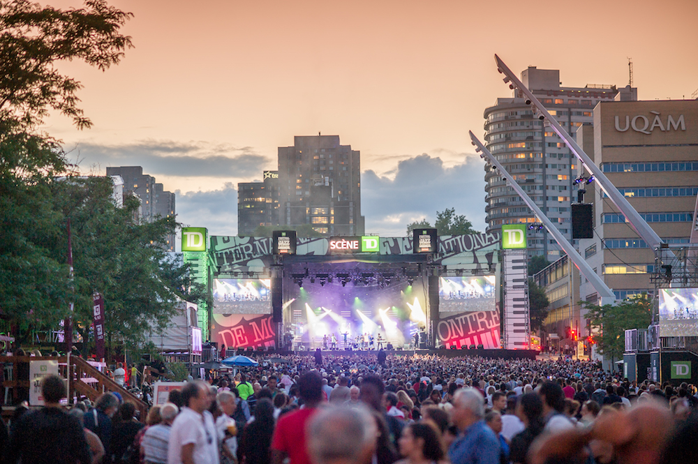 outdoor concert Montreal Jazz Festival