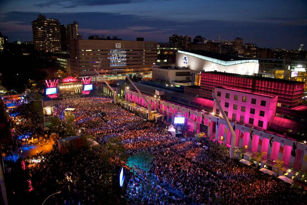 Evening outdoor concert Montreal Jazz Festival