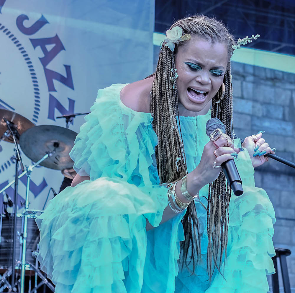 Andra Day performing at Newport Jazz Festival