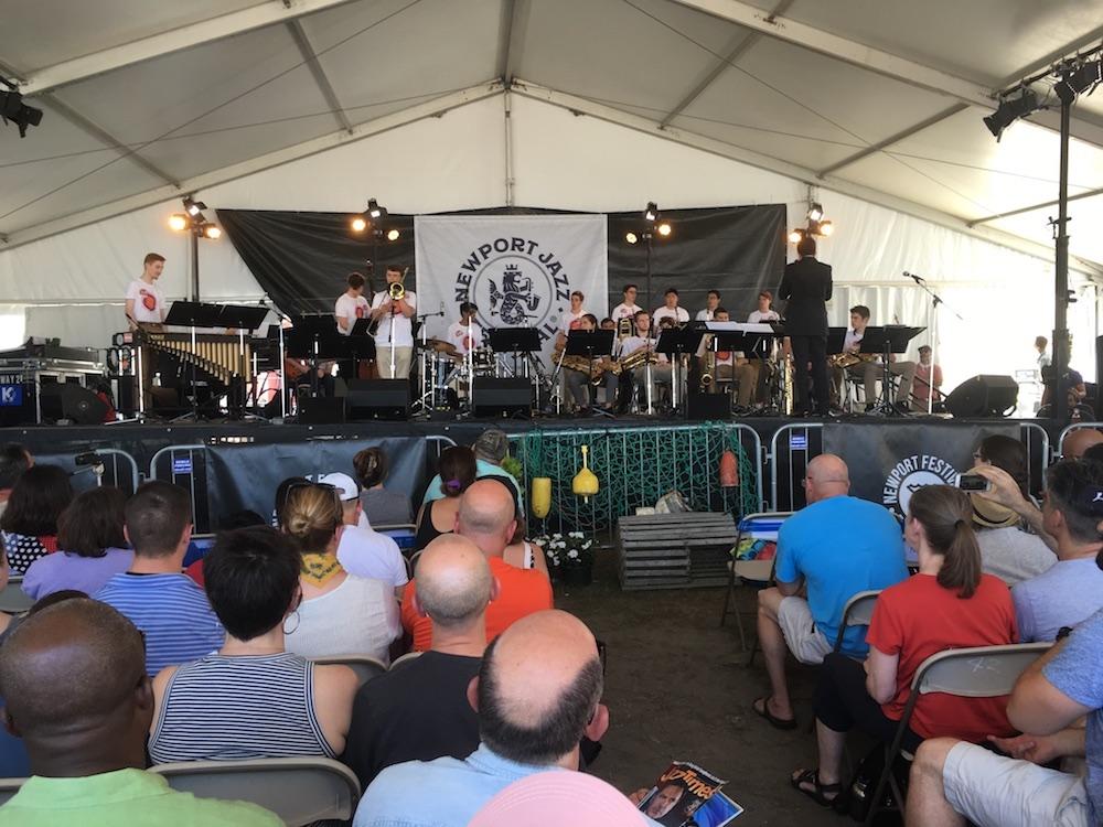 indoor tent performance Newport Jazz Festival