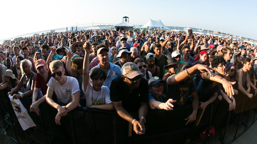crowd at Newport Jazz Festival