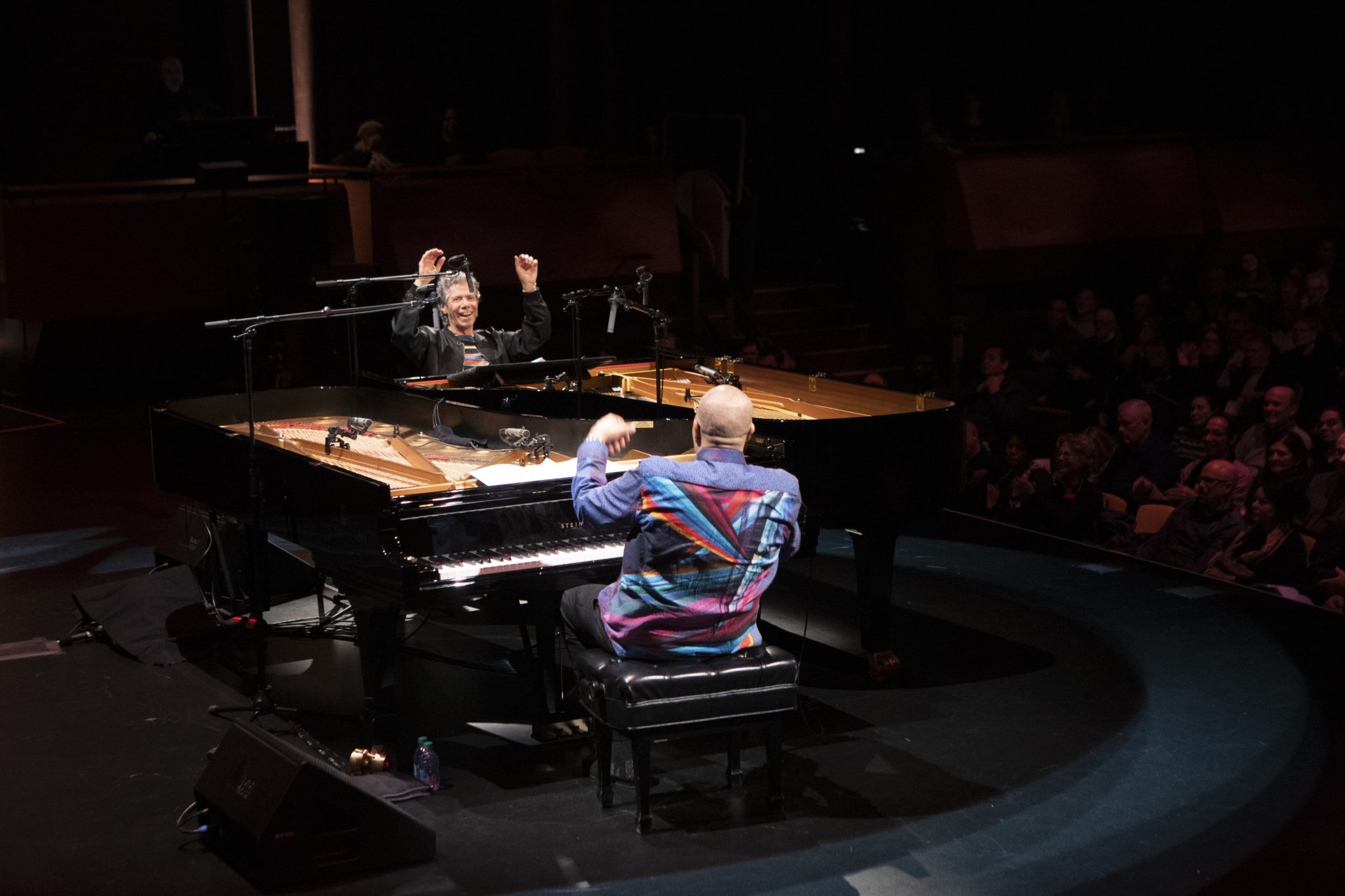 Two Jazz Masters on stage performing together at last: Cuban pianist Chucho Valdés and special guest Chick Corea